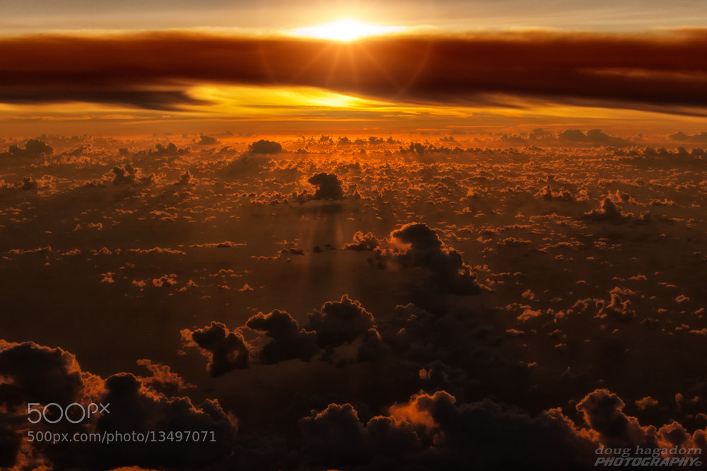Photograph Sunrise at 30,000 Feet by Doug Hagadorn on 500px