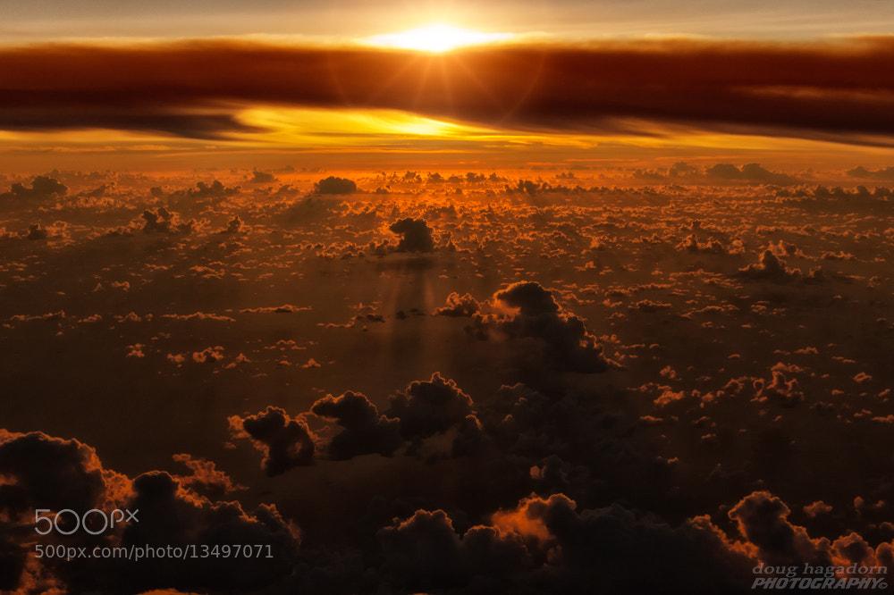 Photograph Sunrise at 30,000 Feet by Doug Hagadorn on 500px