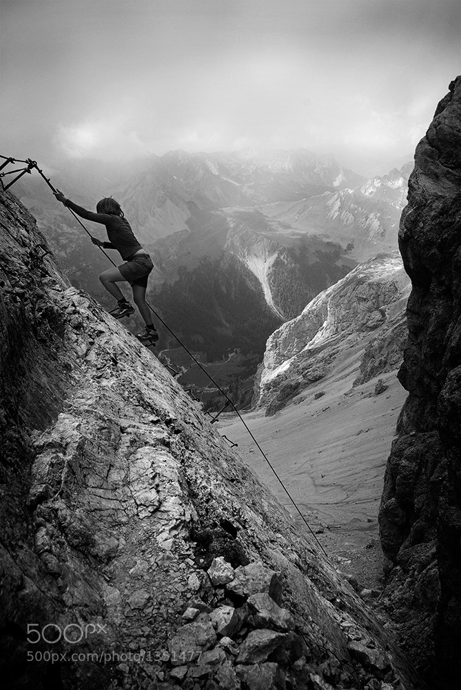 Photograph Climbing Marmolada by Rulan Kurek on 500px