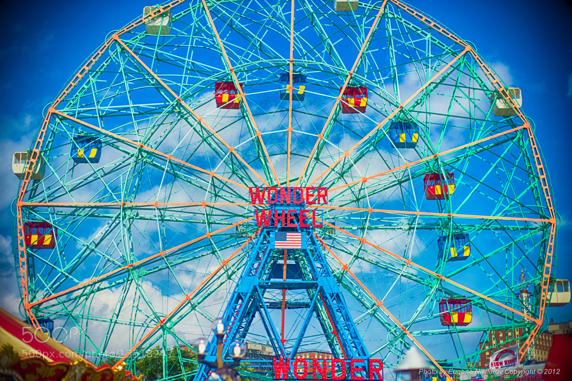 Photograph Wonder Wheel, Conney Island Park, Brooklyn, New York by Eugene Nikiforov on 500px