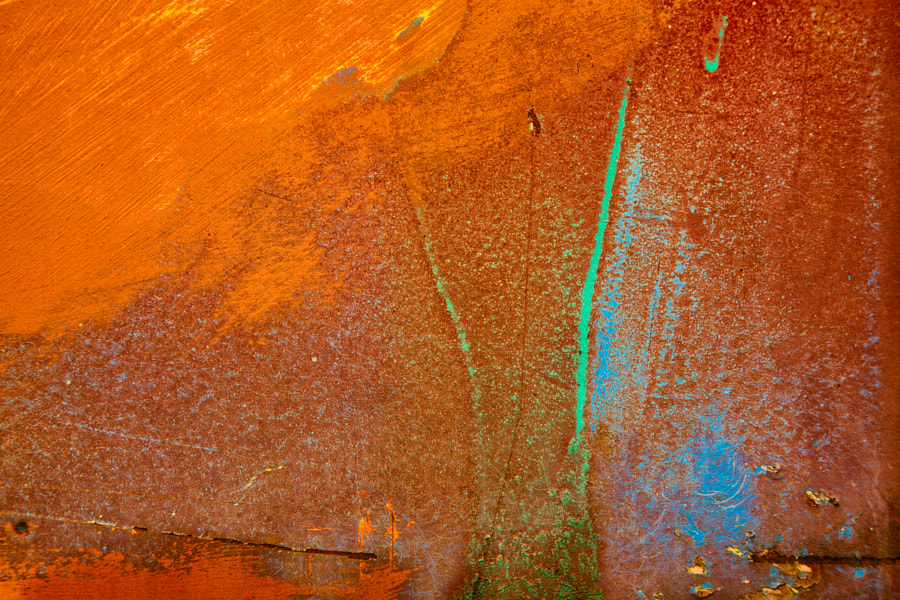 Rust and paint abstract 1