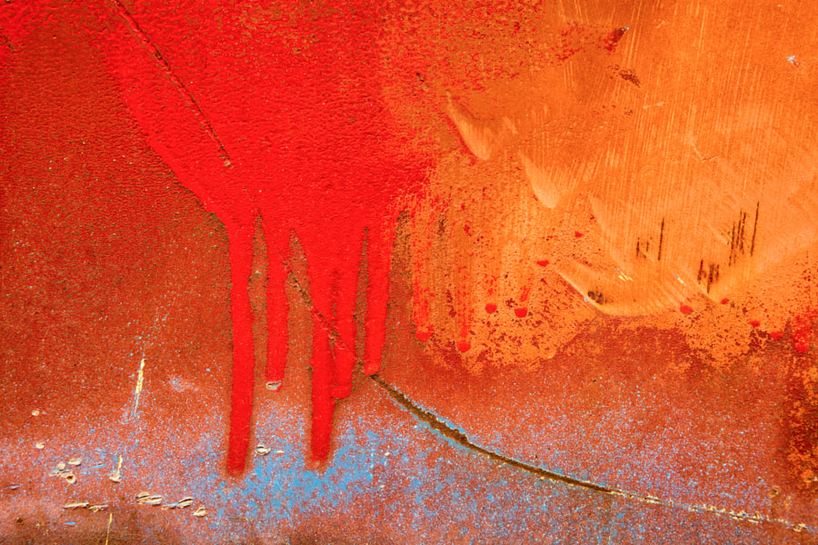 Rust and paint abstract 2