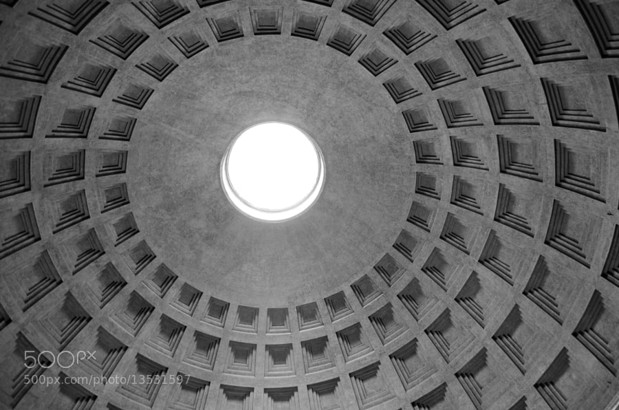 pantheon dome by Vincent Teng (vincentteng) on 500px.com