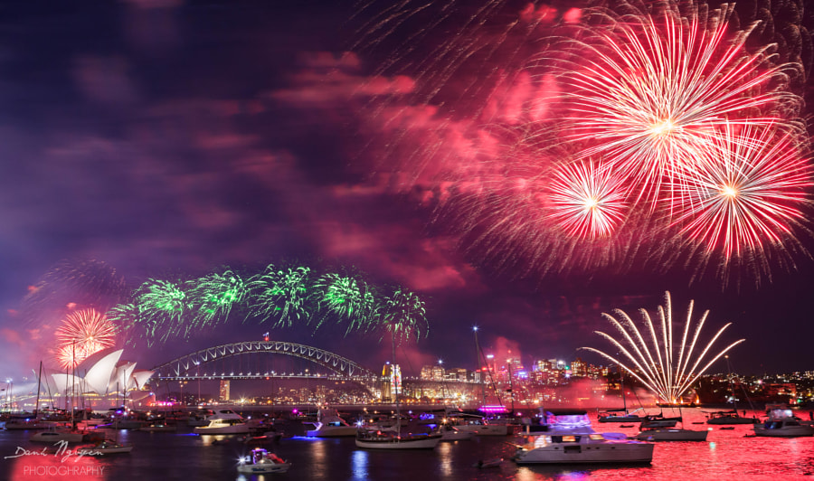 500px.comのDanh NguyenさんによるSydney New Year Firework 2016  (3)