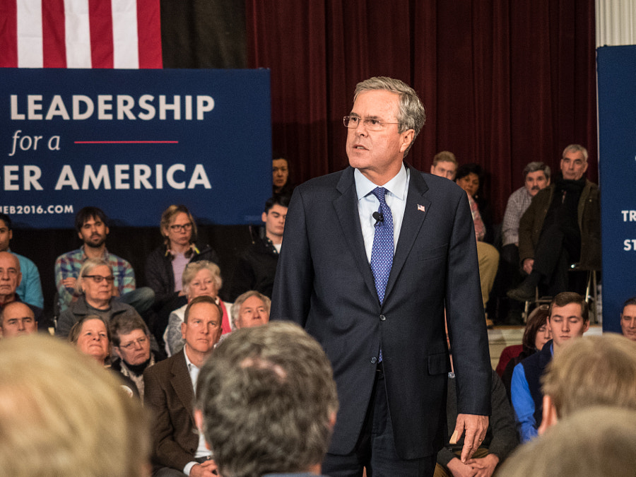 Jeb Bush Town Hall Meeting by John Poltrack on 500px.com