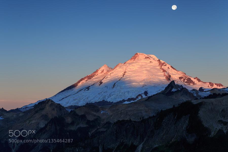 Mount Baker in rising sunlight