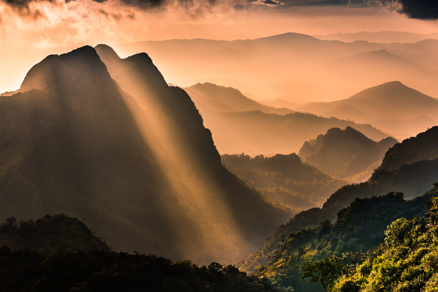 Raylight sunset Landscape at Doi Luang Chiang Dao by Sittitap Leangrugsa on 500px.com
