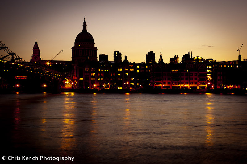 Photograph Thames sunset by Chris Kench on 500px