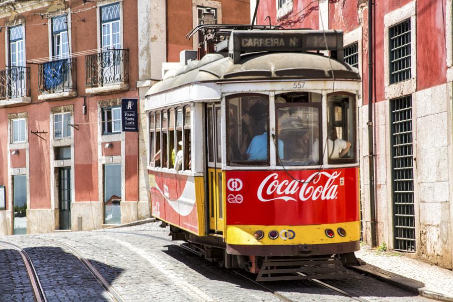 No 12 Tram in Alfama