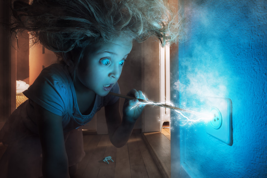 Just a knitting needle and a wall socket by John Wilhelm is a photoholic on 500px.com