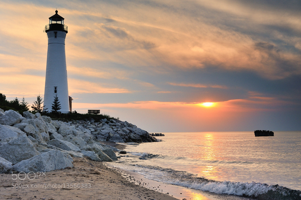Photograph Crisp Point Lighthouse Sunset - Lake Superior, Upper Michigan by John McCormick on 500px