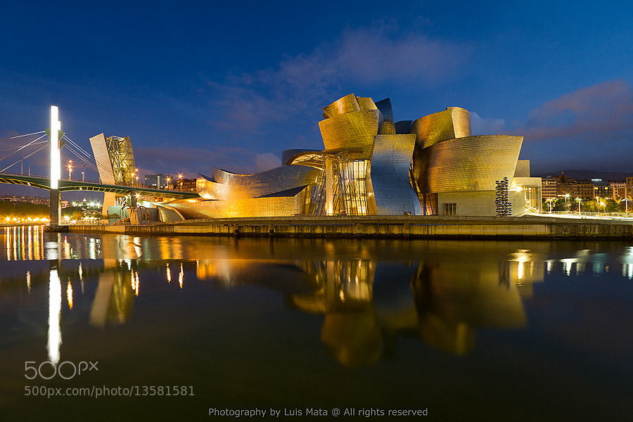 Photograph Guggenheim Bilbao at dusk by Luis Mata on 500px