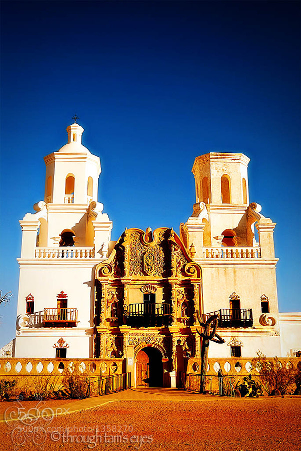This was taken at the Mission San Xavier del Bac in Tucson, Arizona.  This place is the oldest mission in Arizona and has a sister mission in Mexico.  It is incredibly beautiful and I can't wait to go back.
