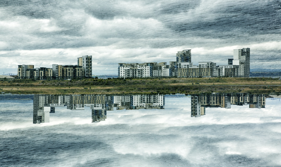Double exposure of flats at Leith