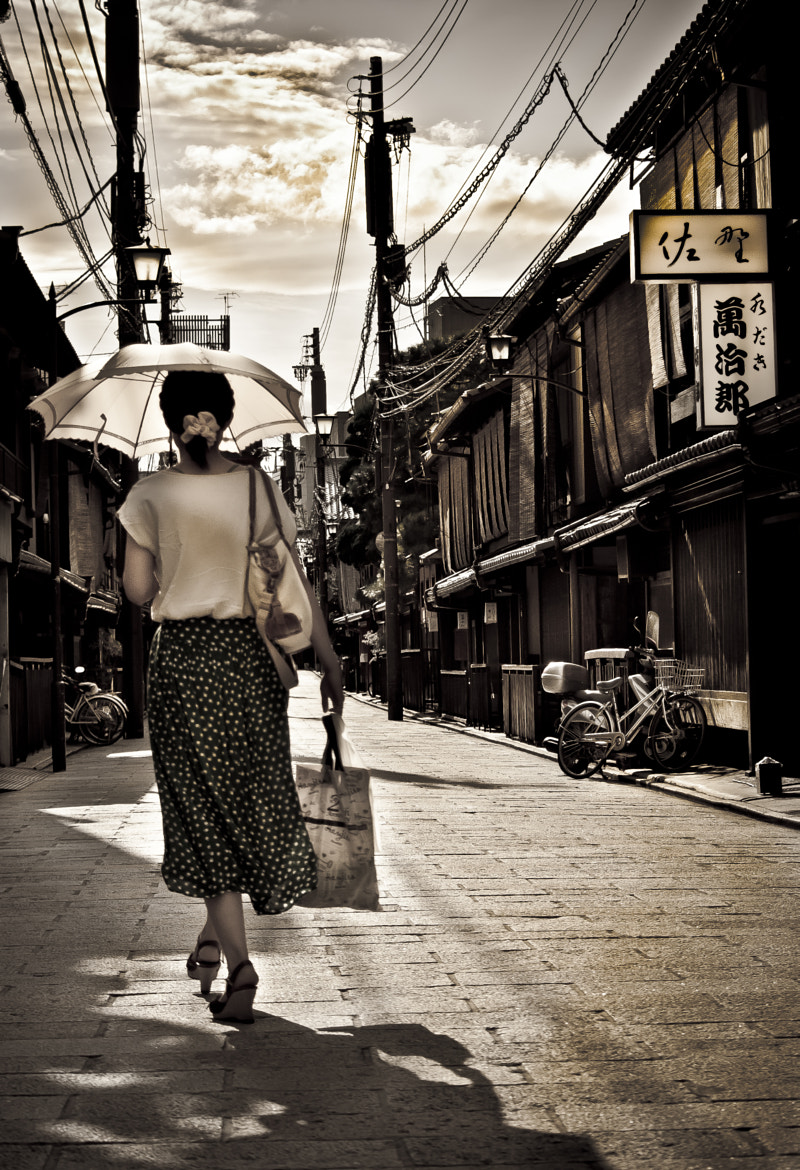 Photograph Streets of Gion by Davide Pezzia on 500px