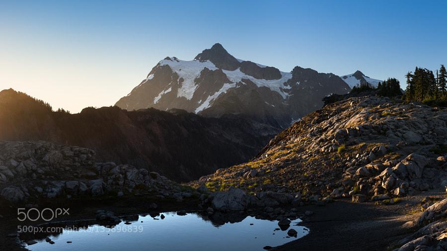 Mount Shuksan in rising sunlight
