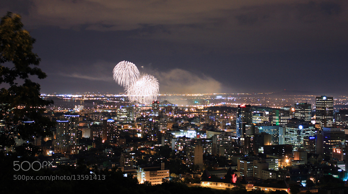 Photograph Montréal Fireworks by Skylark Pictures on 500px