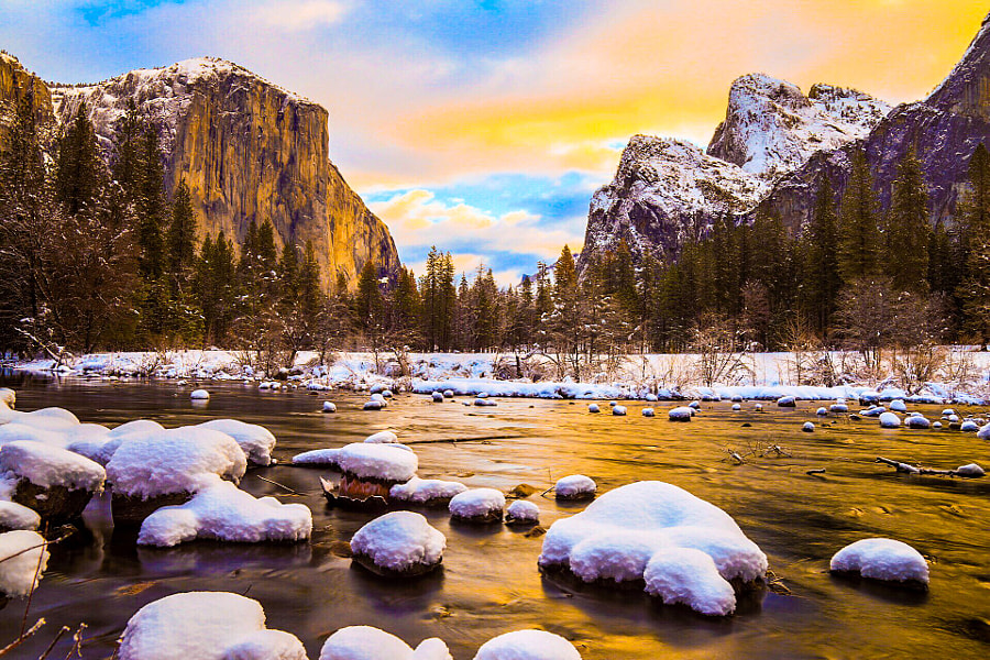 "Colorful Winter Yosemite Sunrise by Eric ""Tigger"" Neitzel on 500px.com"