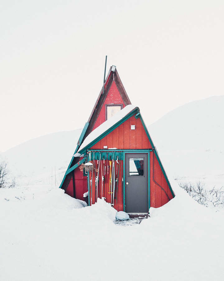 A Red Cabin in Hatcher Pass. by Andrew Kearns on 500px.com