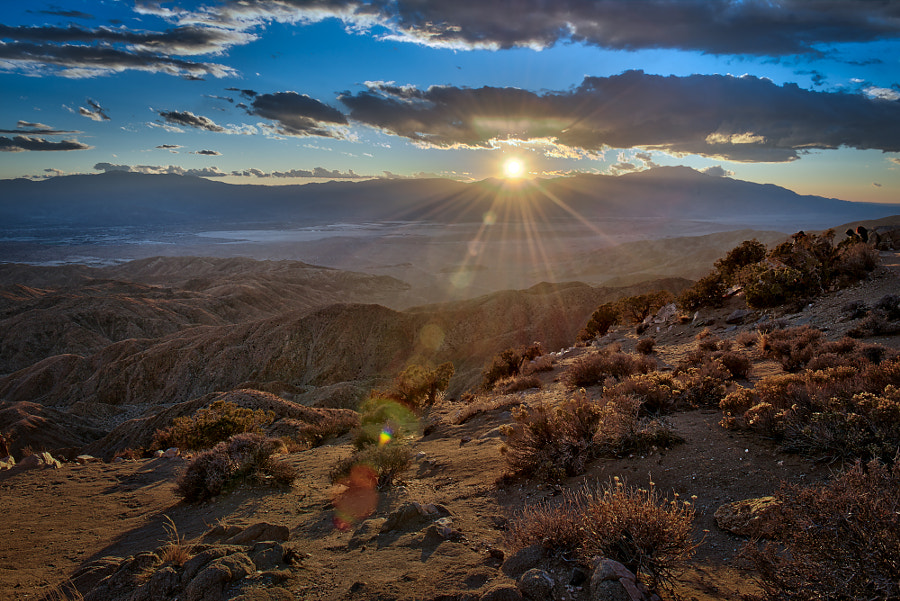 Sunset at Keys View - Joshua Tree National Park, California by Konrad Dwojak on 500px.com