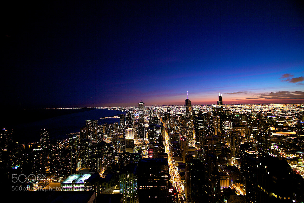 Photograph Chicago at Night by Brian Chambers on 500px