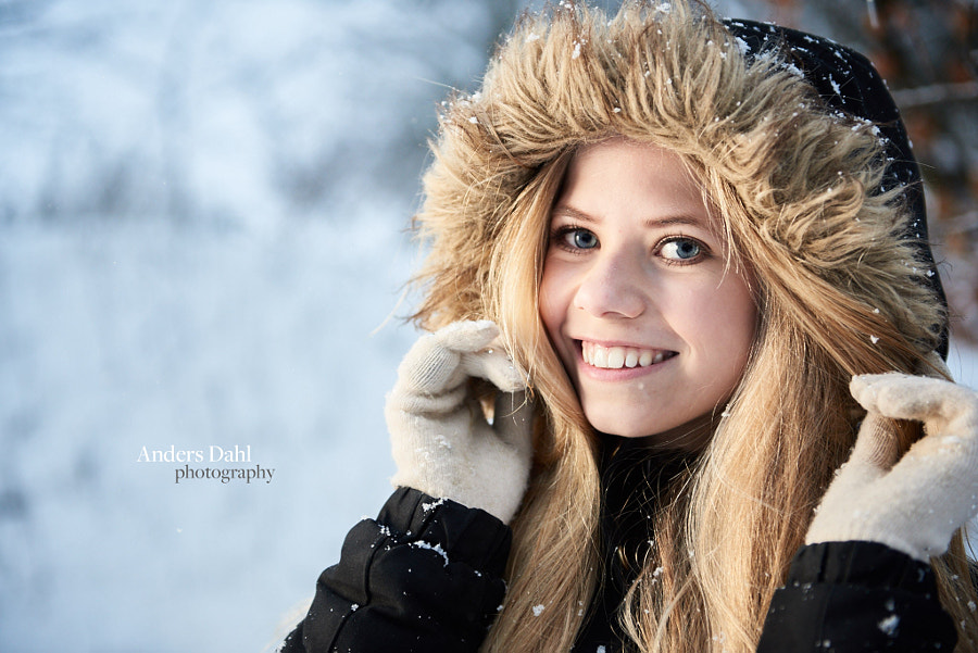 Young girl outside in the snow by Anders Dahl Tollestrup on 500px.com