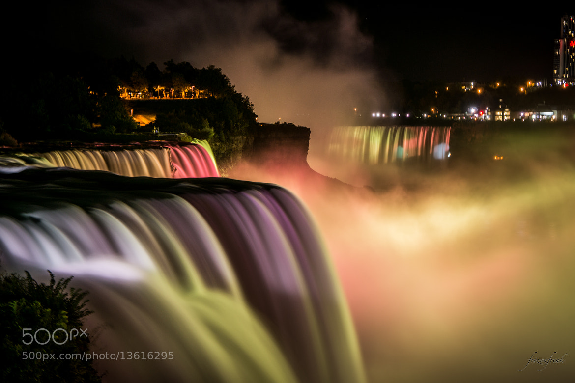 Photograph Niagara Falls at Night by Sastha K L on 500px