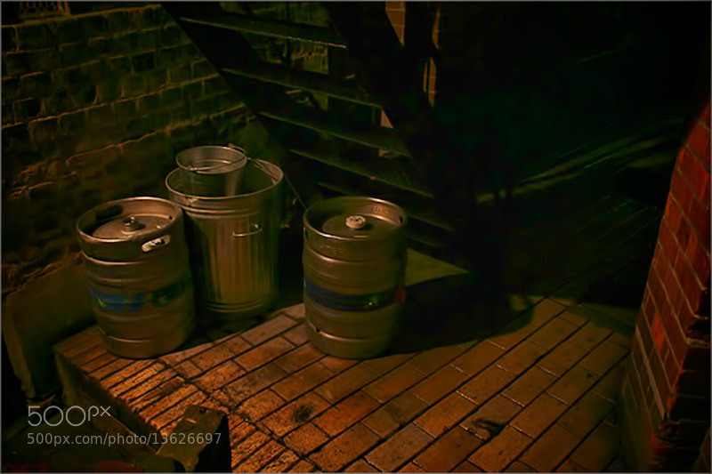 Photograph Pub Beer Barrels in the Rain by Andrew Barrow LRPS on 500px