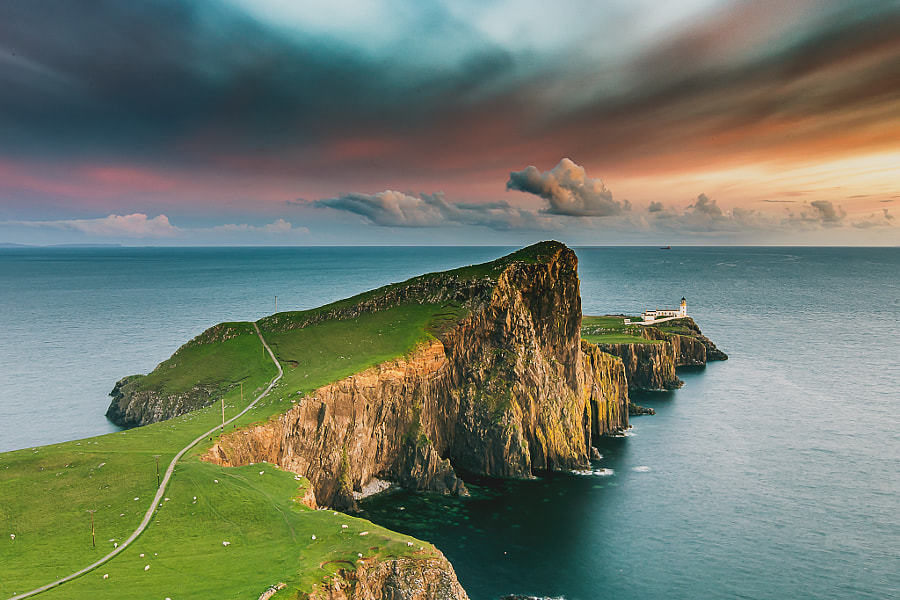 Isle Of Skye - Neist Point Lighthouse - Scotland