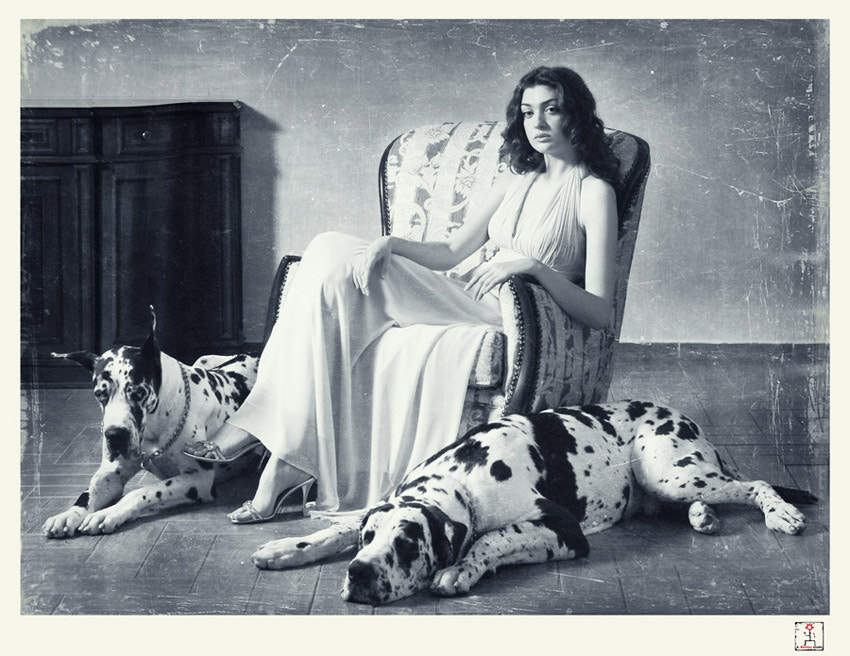 Photograph *** (lady with dogs) by ABorisovStudio  on 500px