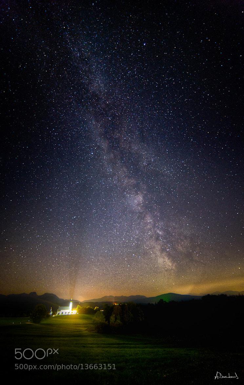 Photograph Wallfahrtskirche Wilparting bei Nacht by Alexander Derenbach on 500px
