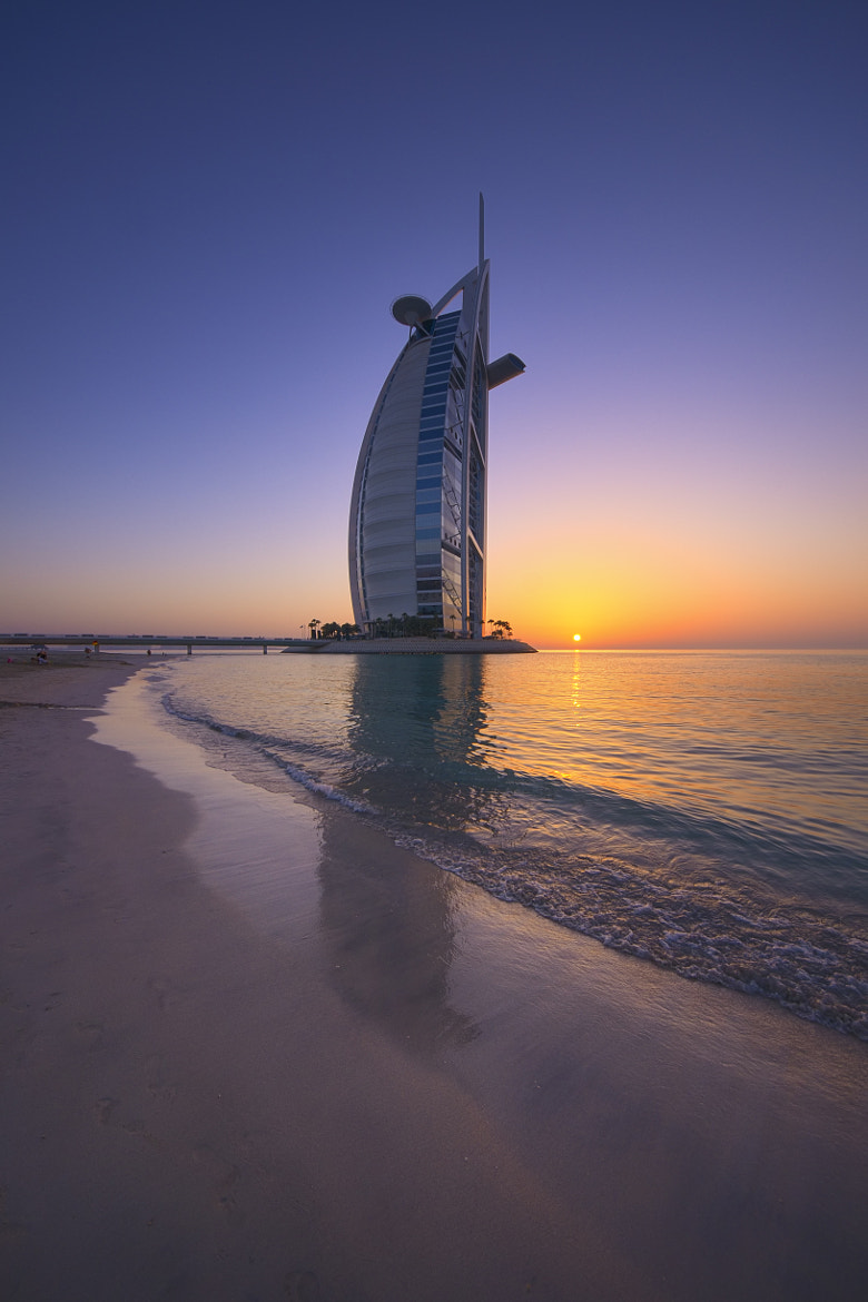 Photograph Burj al Arab Sunset by Olaf Dziallas on 500px