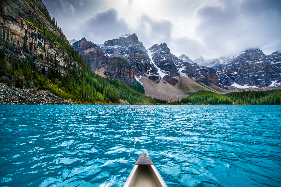 Photograph Canoeing on Moraine by Peter Stasiewicz on 500px