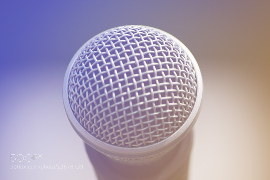 microphone by Brandon Buck (brandonthebuck) on 500px.com