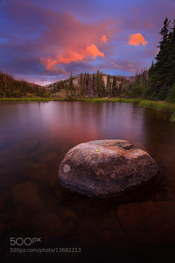 Photograph Sunset Over the Unnamed Lake by Jacob Routzahn on 500px