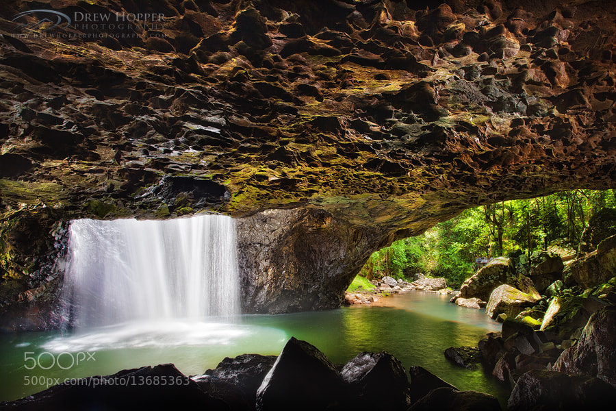 Photograph Natural Arch Springbrook by Drew Hopper on 500px