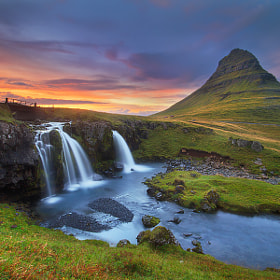 Kirkjufell evening by Dylan Toh  & Marianne Lim on 500px.com