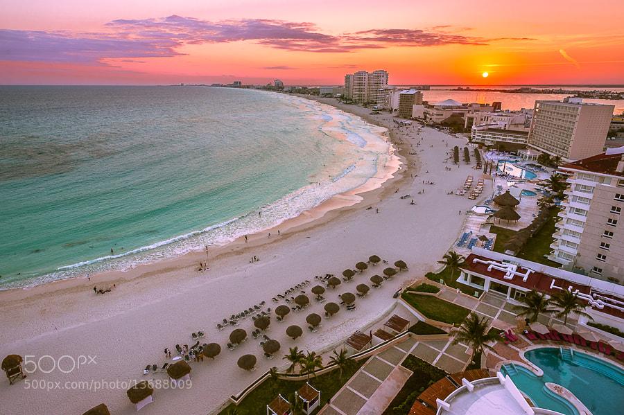Photograph Cancun Sunset by Alyaksandr Stzhalkouski on 500px
