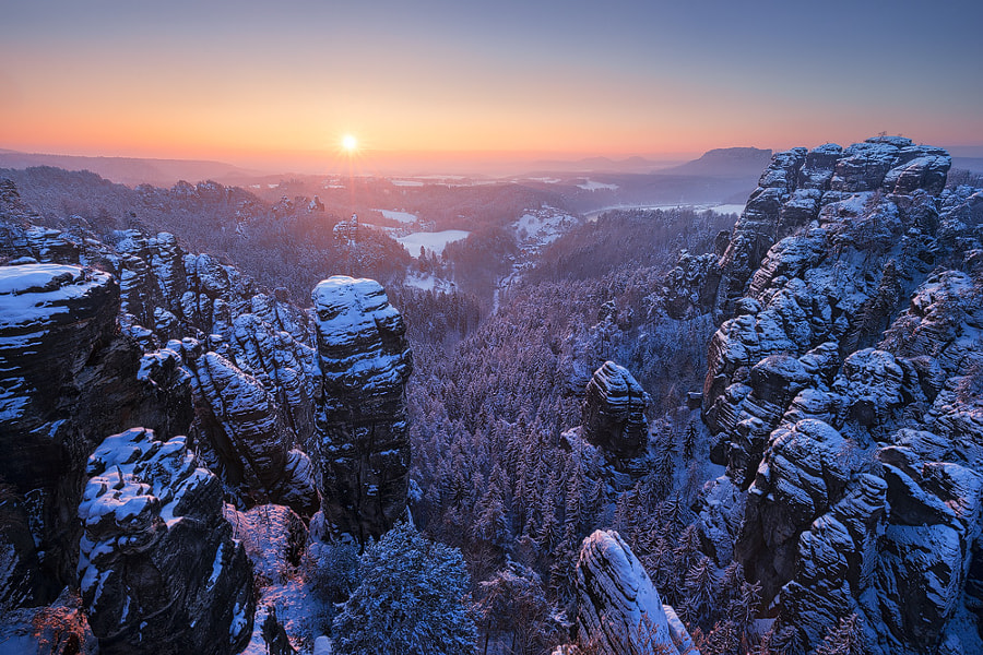 Winter Sunrise by Tobias Richter on 500px.com