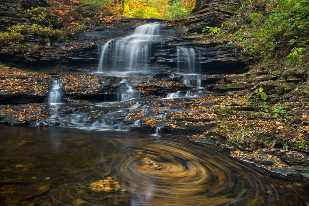 Photograph Autumn at Onondage Falls by Jeanine Leech on 500px