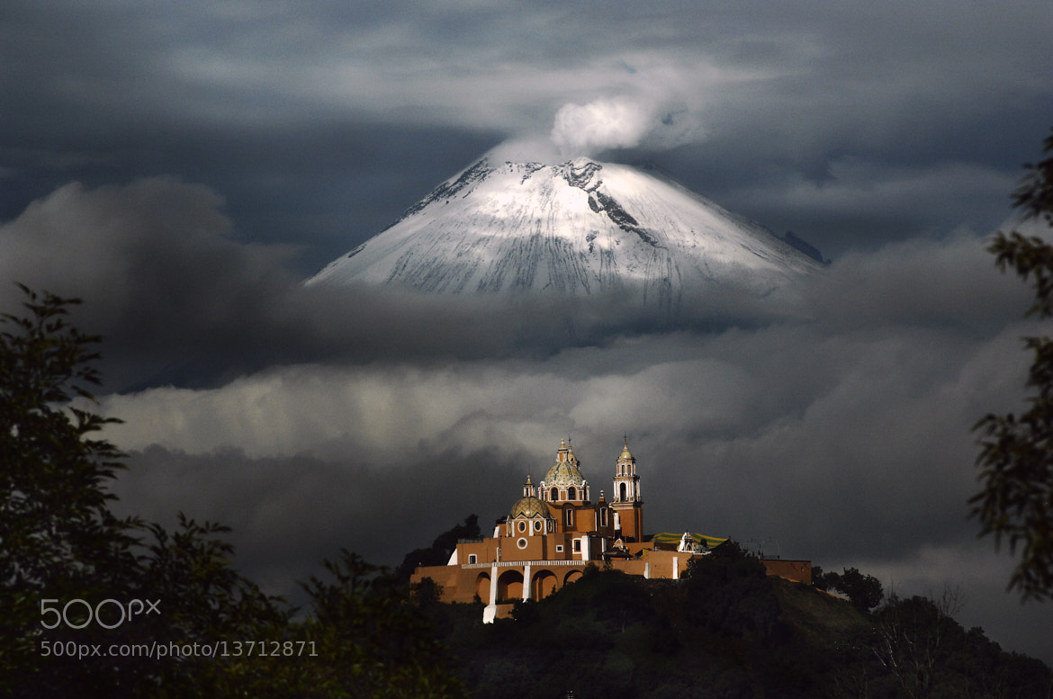 Photograph Church and snowy Volcano by Cristobal Garciaferro Rubio on 500px