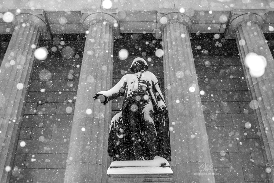 Snowfall, Wall Street by Cory Schloss Images on 500px.com