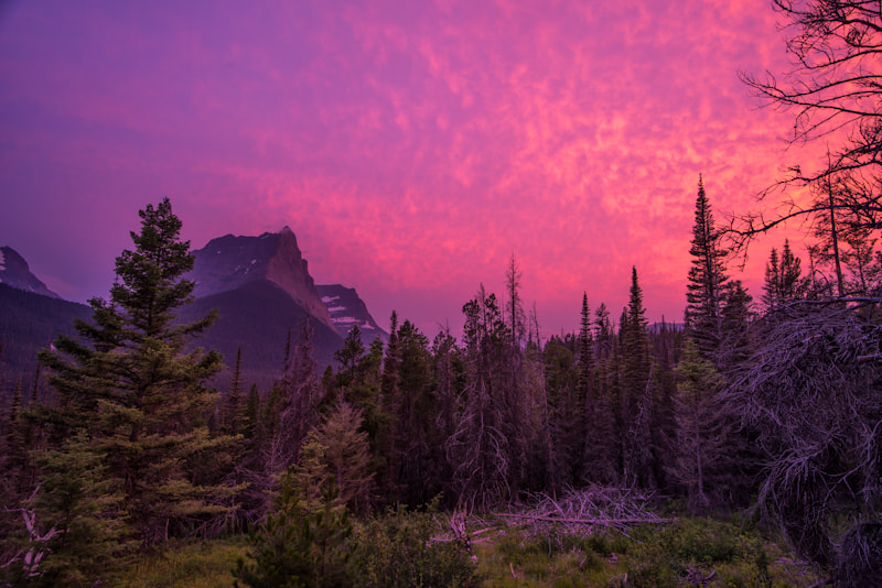 Photograph Sunset Near St. Mary's Lake by Justin Berman on 500px
