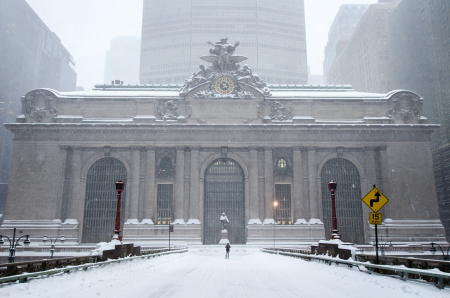 Snow Storm at Grand Central Terminal by Antoine Meillet on 500px.com
