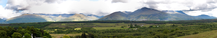 Ben Nevis covered in cloud. Not an unusual sight.  The scottish highland are a magnificent part of the world.