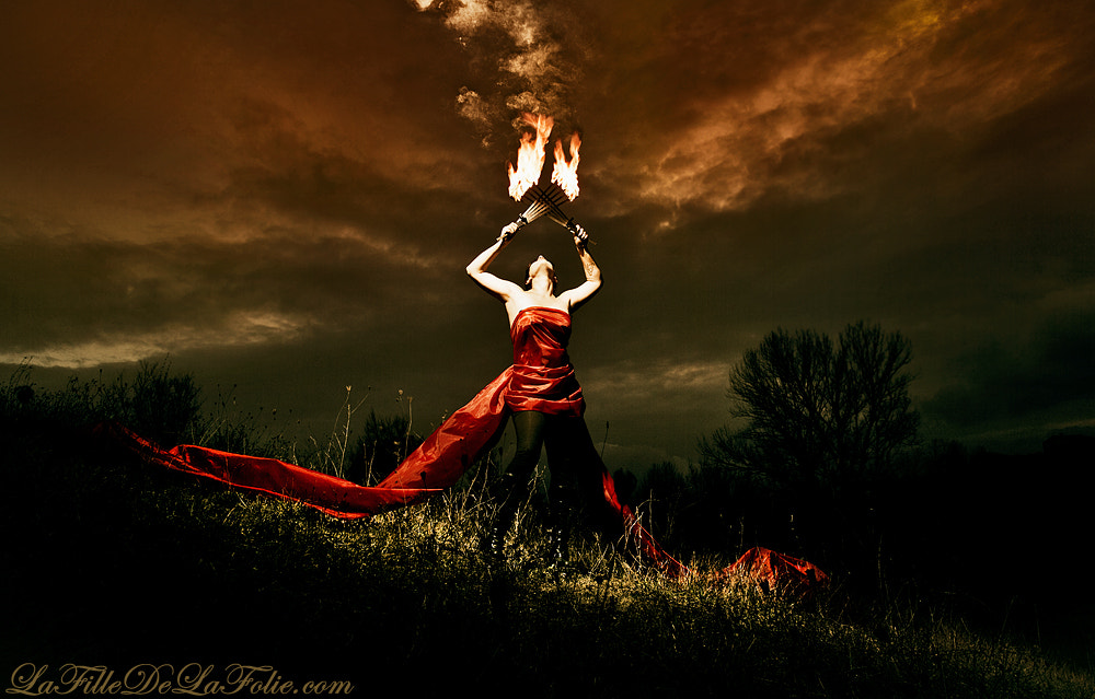 Photograph Lady of fire (set the fire to the rain) by Beatrice Passeggio on 500px