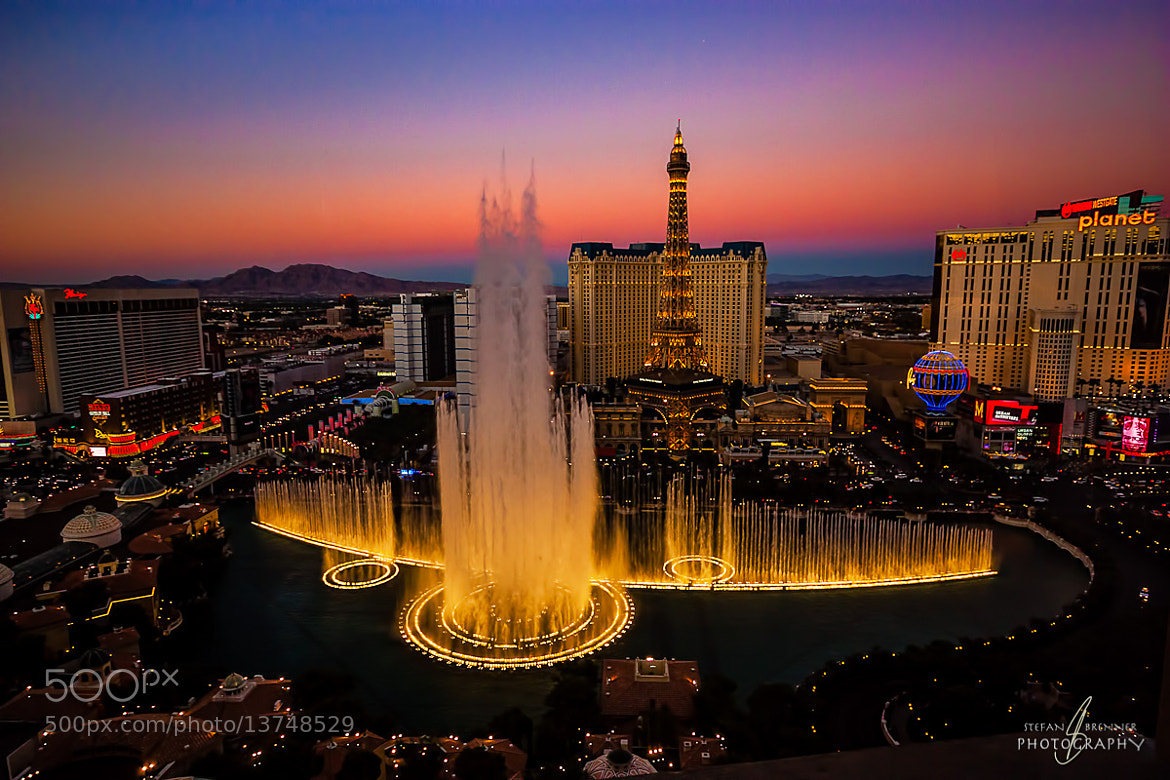 Photograph Bellagio Fountains by Stefan Brenner on 500px