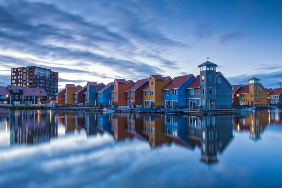 Descending calmness - Reitdiephaven, Groningen, The Netherlands by Bas Meelker on 500px.com