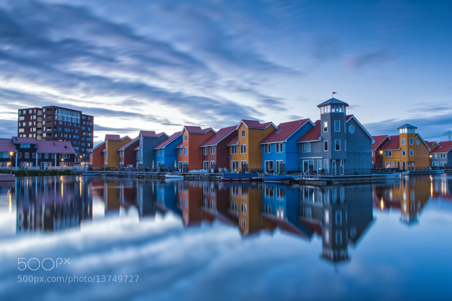 Descending calmness - Reitdiephaven, Groningen, The Netherlands by Bas Meelker (basmeelker)) on 500px.com