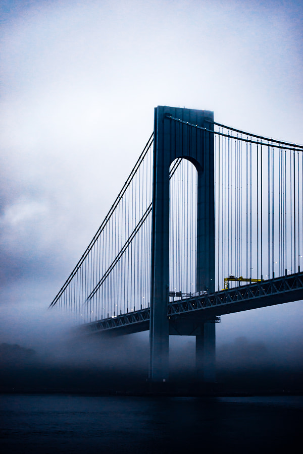Verrazano Narrows Bridge in Morning Fog by Christopher Mowers on 500px.com